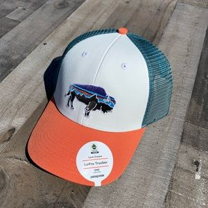 NEW Patagonia Fitz Roy Bison LoPro Trucker Hat